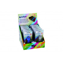 Expositor 12 uds Linterna 9 LED COLORES